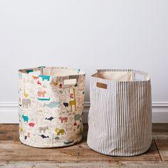 Pehr Kids Laundry Hamper And Storage Basket Noah S Ark Stripe In