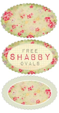 Vintage Freebie with Keren: Pretty Printable Shabby Ovals