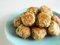 Albondigas De Pavo Y Manzana Baby Food Recipes, Healthy Recipes, Eating Alone, Deli Food, Baby Led Weaning, 20 Min, Canapes, Finger Foods, Muffin