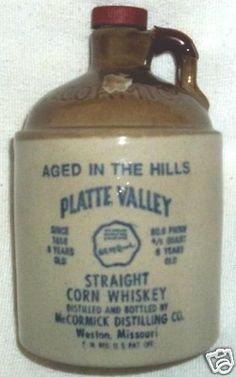 Vintage Stoneware Pottery McCormick Corn Whiskey Jug 1979c No Contents