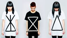 Geometric t-shirts from Long Clothing