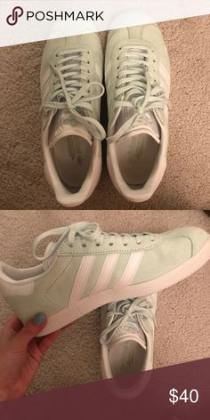 870163d9ba Adidas Gazelle shoes Adidas Gazelle Mint Green Only worn a couple times In  great condition adidas