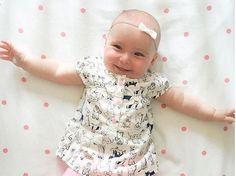 Angelica Headband bow white nylon headband baby by EverIrisDesigns