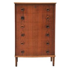 Mid Century Danish Modern Walnut Dresser  Denmark  c. 1960s <-- Love this style.