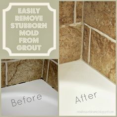 New House to Home: Cleaning Mold in Tile Grout Glass Tile Backsplash, Tile Grout, Peel And Stick Tile, Stick On Tiles, Cleaning Mold, Cleaning Hacks, Cleaning Solutions, Storage Solutions, Mold In Bathroom