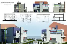 Digital images of the Rietveld Schröder House by Redilion on deviantArt