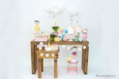 mini festa infantil tema doces sonhos com tons candy color e detalhes lúdicos.