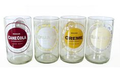 Recycled Soda Bottle Glasses - Now you can drink anything you want out of your Boylan bottle since it's been turned into a glass! Retaining the classic look and rich color of these incredibly popular soda bottles, these tumblers were actually created from soda bottles rescued from NYC restaurants...which of course keeps them out of landfills.