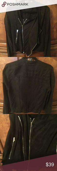 BlankNYC Lightweight Jacket with Zippers Sz XS Black Lightweight Jacket from BlankNYC. Size Extra Small.  Has two zippers on each side can be zipped multiple ways for various fashion effects! Worn one time/great condition Blank NYC Jackets & Coats