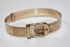 Victorian Bangle Bracelet Rose GF Buckle Bracelet by patwatty, $30.00