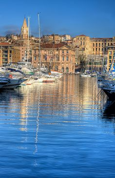 Port of Marseilles, France. With Peter Mayle in The Marseille Caper. Places Around The World, Oh The Places You'll Go, Travel Around The World, Places To Travel, Places To Visit, Around The Worlds, Wonderful Places, Beautiful Places, Monaco