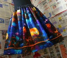Galaxy Skirt Space Skirt Universe Skirt Geek Clothes by Roobys, £30.00