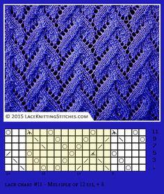Lace knitting. Free chart 11