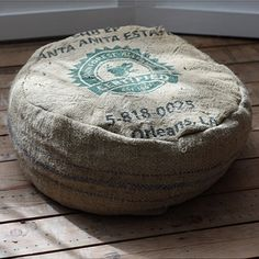 Burly Joe Trading Co. Moccaccino Nest Bed - made from recycled coffee bean bags and filled with recycled stuffing! Awesome!