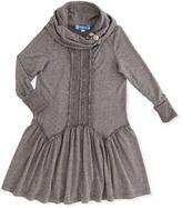 Truly Me Cowl-Neck Drop-Waist Dress, 12-14
