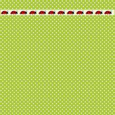 Polka dot digitales gratuitos scrapbooking los papeles con la frontera de la mariquita - ausdruckbares Geschenkpapier - regalo de promoción | MeinLilaPark - printables bricolaje y descargas
