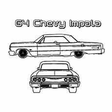The muscle chevy impala