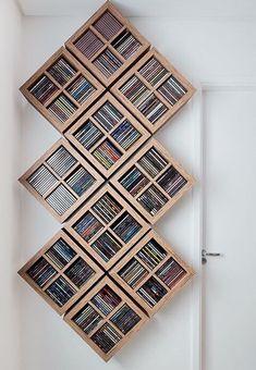 Cool & Unique DIY DVD Storage Ideas for Small Spaces #DIY #ideas #Solutions #Binder #Box #Hidden #smallspace #cabinet #shelves #case #rustic #pallet #basket #repurpose #cupboard #Table #minimalist #movie #collection #display #wallmount #design #Sleeves