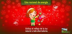 Navidad Verde: ¡Uso racional de energía! En lugar de llenar tu casa de luces eléctricas, te recomendamos decorarla con pequeños espejitos para que reflejen la luz natural o con unas pocas series navideñas que sean leds ahorradores.