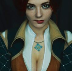 Ksenia Shelkovskaya jako Triss Merigold.  Wiedźmin 2 The Witcher