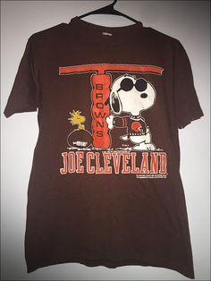 9729ce72a Vintage 80 s NFL Snoopy Joe Cleveland Peanuts Shirt - Size Medium by… Snoopy  T Shirt
