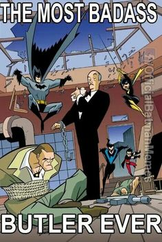 How Batman's Butler Alfred Evolved from a Joke Character to a Total Badass