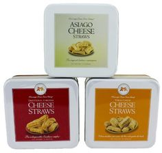 Mississippi Cheese Straw Factory Three Gift Tin Cheese Straw Assortment: Traditional Cheddar, Three-Cheese and Asiago, 30oz - http://mygourmetgifts.com/mississippi-cheese-straw-factory-three-gift-tin-cheese-straw-assortment-traditional-cheddar-three-cheese-and-asiago-30oz/