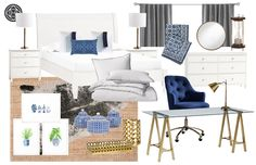 Classic, Glam, and Preppy Office by Havenly