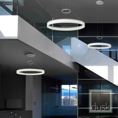 Grok Circ Matt White Circular LED Pendant Light - 00-0001-BW-M3