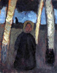 Paula Modersohn-Becker - Child under birch trees