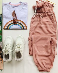 Sporty Outfits, Teen Fashion Outfits, Cute Casual Outfits, Girl Outfits, Womens Fashion, Flats Outfit, Vacation Outfits, Trending Outfits, Clothes