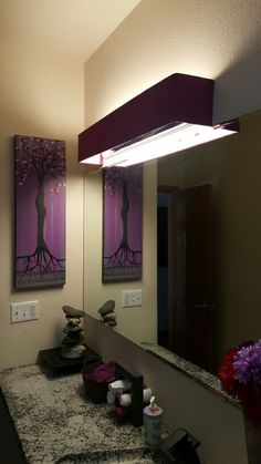 Vanity Light Cover Diy : Cover ugly Hollywood lights- bathroom DIY Home Pinterest Hollywood, Bathroom lighting and ...