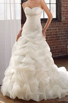 Fabulous Good value for money is what European Dry Cleaners provide its customers With over Organza Wedding DressesDress