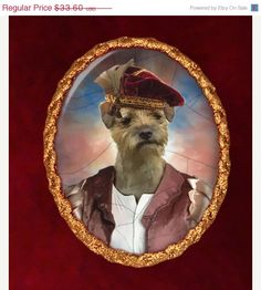 ON SALE Border Terrier Jewelry Brooch Handcrafted by NobilityDogs, $30.60