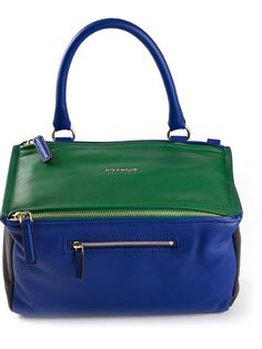 GIVENCHY 'Pandora' Bag in fabulous navy and green calf leather combo!! Love, love, love.