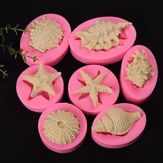 Unleash your inner mermaid with these silicone molds! If you love the sea and ocean you will love to make unique magical mermaid crafts and mermaid birthday cakes with these reusable silicone molds. Diy Silicone Molds, Resin Molds, Soap Molds, Cake Decorating With Fondant, Cake Decorating Tools, Fondant Molds, Fondant Cakes, Moon Cake Mold, Mermaid Birthday Cakes