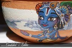 PANIHATI pot - Krisha sending letter to Radha by candrika108