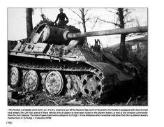 Panzerkampfwagen Panther G Steel Wheeler. Battle of the Bulge