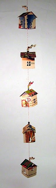 Made from vintage story books. Cute hanging on a string.
