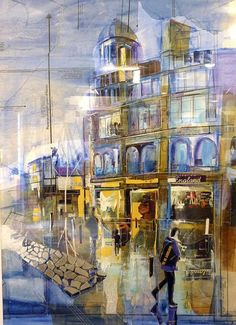 Rob Wilson   (Painting of Manchester,no title)