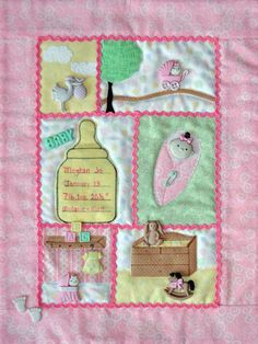 Baby Girl Button Quilt by Mouse Blankets at KayeWood.com