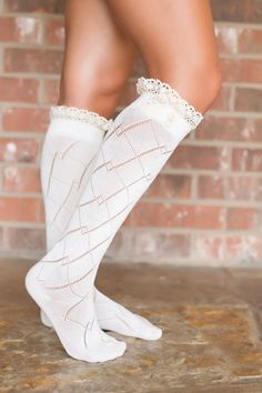 Lace-Trimmed Boot Socks-Multiple Colors