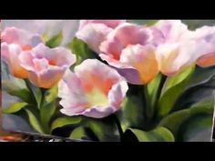 How to paint tulips easy way. Alla prima. Flowers oil painting for beginners. Acrylics painting - YouTube