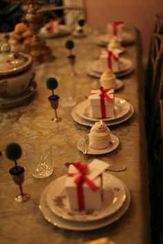 My holiday table setting