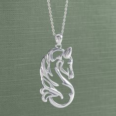 Sterling Quiet Beauty Necklace - Western Wear, Equestrian Inspired Clothing, Jewelry, Home Décor, Gifts