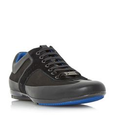 Hugo Boss Merceso mercedes edition leather trainer, Black