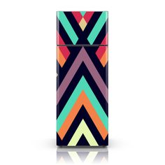Fridge Decal - Modern Tribal Geometric Wallpaper - Self Adhesive Vinyl Decal Adhesive Wallpaper, Adhesive Vinyl, Refrigerator Makeover, Modern Refrigerators, Fridge Decor, Geometric Wallpaper, Home Design Decor, Colorful Drawings, Vinyl Decals