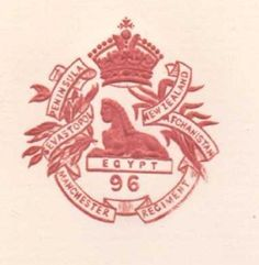 C1900 96TH FOOT THE MANCHESTER REGIMENT PAPER EMBOSSED LETTERHEAD CREST