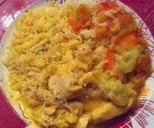 Recette Emincé de poulet et tagliatelles de légumes sauce velours au curry par mandou44 - recette de la catégorie Plat principal - divers