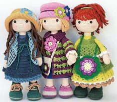 Mesmerizing Crochet an Amigurumi Rabbit Ideas. Lovely Crochet an Amigurumi Rabbit Ideas. Cute Crochet, Crochet Crafts, Crochet Projects, Crochet Toys, Crochet Doll Clothes, Knitted Dolls, Crochet Patterns Amigurumi, Amigurumi Doll, Crochet Dolls Free Patterns